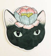 Load image into Gallery viewer, Sticker - Flower Cat