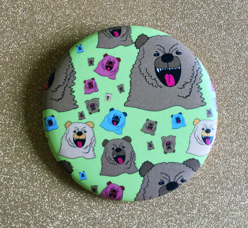 Magnet: 2.25 Inch - Growly Bear