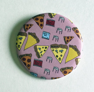 Magnet - 2.25 Inch: Pizza Party Pattern