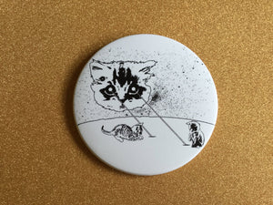 Giant 3.5 Inch Cat Magnets - Laser Cat, Fridge Magnet, Refrigerator Magnets, Space Cat, Laser Beam Space Cat, Cat Gifts