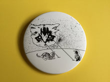 Load image into Gallery viewer, Giant 3.5 Inch Cat Magnets - Laser Cat, Fridge Magnet, Refrigerator Magnets, Space Cat, Laser Beam Space Cat, Cat Gifts