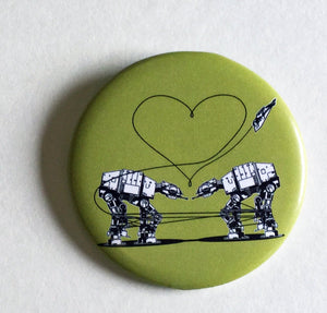 Magnet: 2.25 Inch - Love AT-AT First Sight: Green