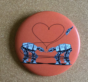 Magnet: 2.25 Inch - Love AT-AT First Sight - Orange
