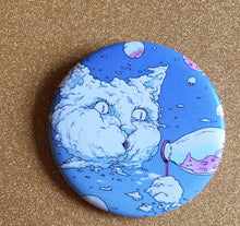 Load image into Gallery viewer, Magnet - 2.25 Inch: Bubble Cat - Blue