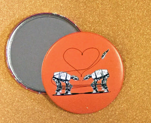 Mirror - 3.5 Inch: Love AT-AT First Sight - Orange