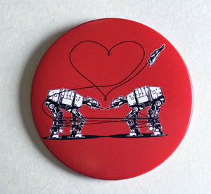 Mirror - 3.5 Inch: Love AT-AT First Sight - Red