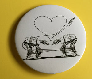 Mirror - 3.5 Inch: Love AT-AT First Sight - White