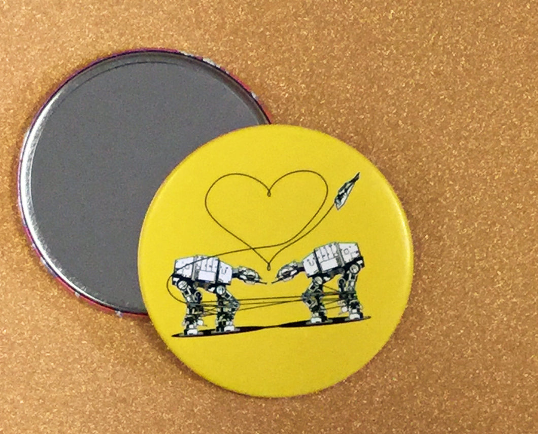 Mirror - 3.5 Inch: Love AT-AT First Sight - Yellow