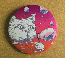 Load image into Gallery viewer, Mirror - 3.5 Inch: Bubble Cat - Sunset