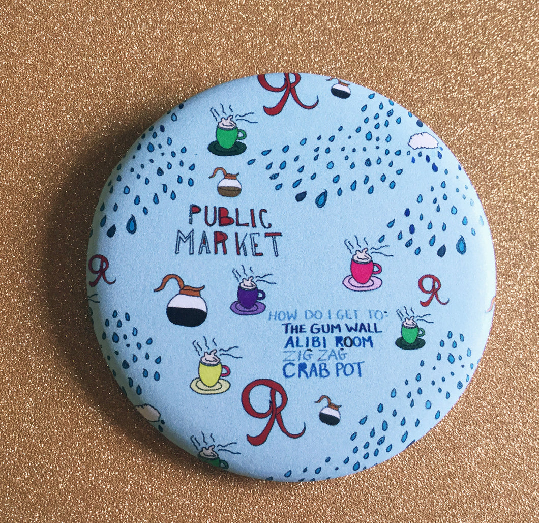 Magnet - 2.25 Inch: Seattle Pattern