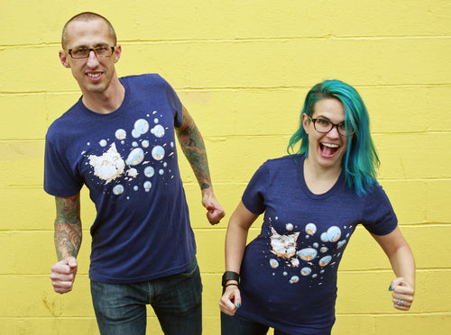 Shirt: Bubble Cat - Unisex Crew