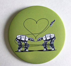 Mirror - 3.5 Inch: Love AT- AT First Sight - Green
