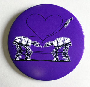 Mirror - 3.5 Inch: Love AT-AT First Sight - Purple
