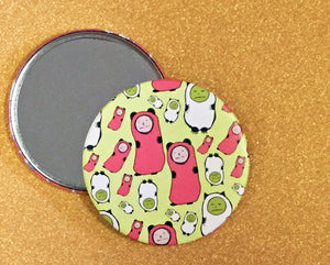 Mirror - 3.5 Inch: Tiny Saddies Pattern