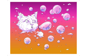 Print: Bubble Cat - Sunset