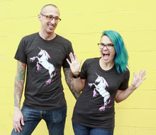 Load image into Gallery viewer, Shirt: Roller Skating Unicorn - Unisex Crew