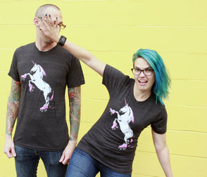 Shirt: Roller Skating Unicorn - Unisex Crew