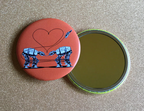 Mirror - Love AT-AT First Sight - Orange 2.25 Inch