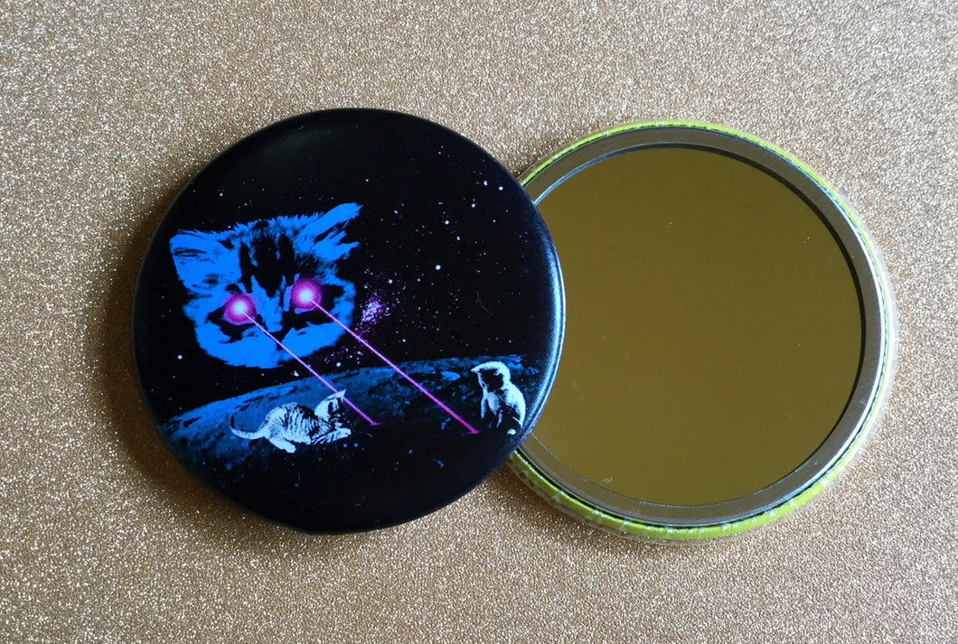 Mirror - 2.25 Inch: Meta Laser Cat - Color