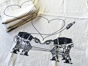 Kitchen Towel: Love AT-AT First Sight