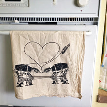 Load image into Gallery viewer, Kitchen Towel: Love AT-AT First Sight, Star Wars Tea Towel, Star Wars Kitchen Towel, Star Wars Parody Kitchen Towel