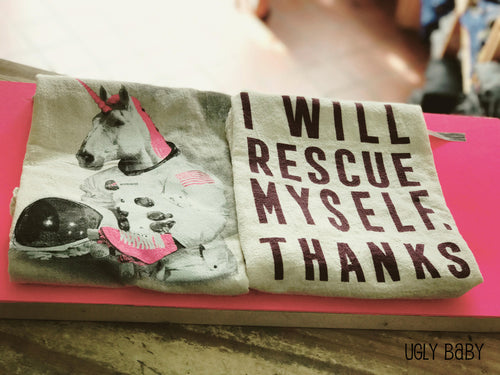 Kitchen Towel: I Will Rescue Myself, Thanks