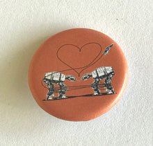 Load image into Gallery viewer, 1.25 Inch Magnet: Love AT-AT First Sight - Orange
