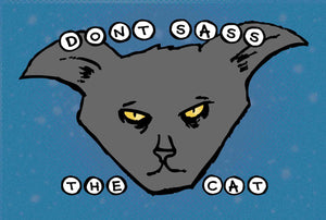 Postcard: Don't Sass the Cat