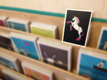 Load image into Gallery viewer, Print: Roller Skating Unicorn - Black