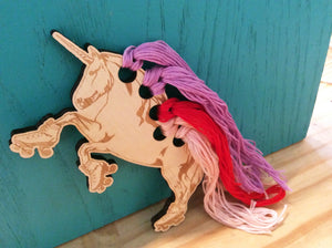 Craft Supply: Embroidery Floss Organizer - Roller Skating Unicorn