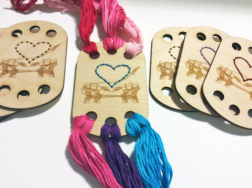 Craft Supply: Embroidery Floss Organizer - Love AT-AT First Sight