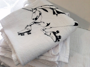 Kitchen Towel: Roller Skating Unicorn