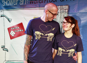 Shirt: Love AT-AT First Sight - Heather Blue - Unisex Crew
