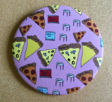 Load image into Gallery viewer, Mirror - 3.5 Inch: Pizza Party Pattern
