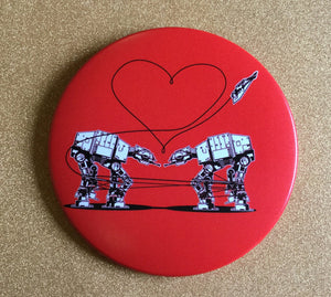 Magnet - 3.5 Inch: Love AT-AT First Sight - Red