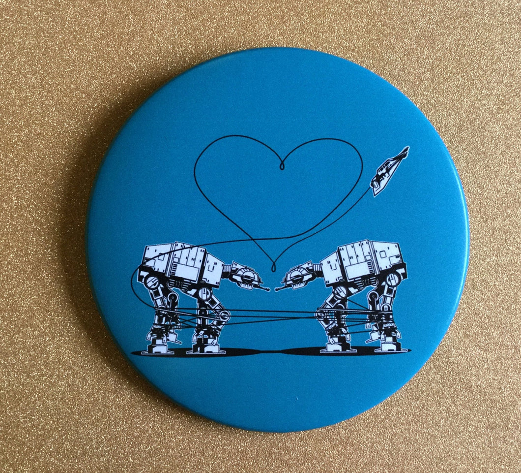 Magnet - 3.5 Inch - Love AT-AT First Sight: Blue