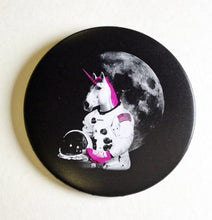 Load image into Gallery viewer, Magnet - 3.5 Inch - Roller Skating Unicorn Astronaut