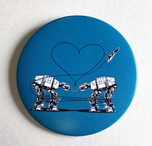 Load image into Gallery viewer, 3.5 Inch Mirror: Love AT-AT First Sight - Blue