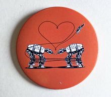 Load image into Gallery viewer, Magnet: 3.5 Inch - Love AT-AT First Sight - Orange