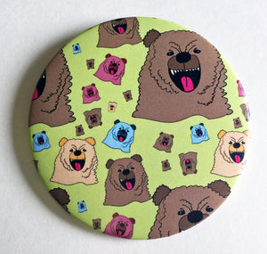 Magnet: 3.5 Inch - Growly Bear
