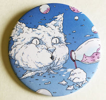 Load image into Gallery viewer, Magnet - 3.5 Inch: Bubble Cat - Blue