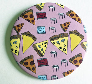 Magnet - 3.5 Inch: Pizza Party Pattern