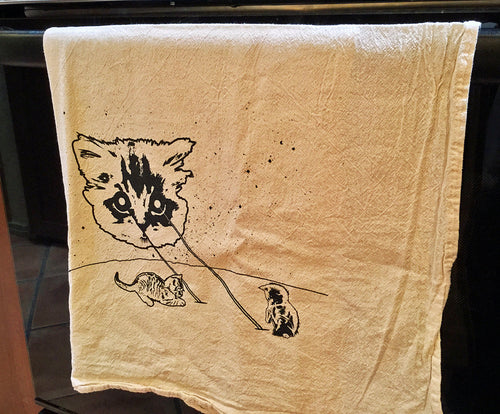 Kitchen Towel: Meta Laser Cat