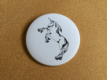 Load image into Gallery viewer, Giant 3.5 Inch Roller Skating Unicorn Magnet - Roller Derby, Fridge Magnet, Refrigerator Magnets, Unicorn Magnet, Unicorn Artwork