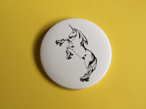 Giant 3.5 Inch Roller Skating Unicorn Magnet - Roller Derby, Fridge Magnet, Refrigerator Magnets, Unicorn Magnet, Unicorn Artwork