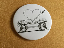 Load image into Gallery viewer, Magnet -3.5 Inch - Love AT-AT First Sight - Black & White