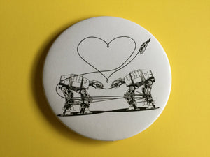 Magnet -3.5 Inch - Love AT-AT First Sight - Black & White