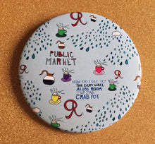 Load image into Gallery viewer, Giant 3.5 Inch Seattle Magnet - Fridge Magnet, Refrigerator Magnets, Pike Place Market Magnet, Coffee Magnet