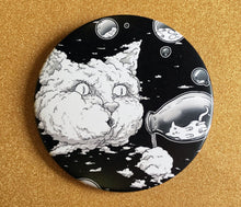 Load image into Gallery viewer, Magnet - 3.5 Inch - Bubble Cat: B&W