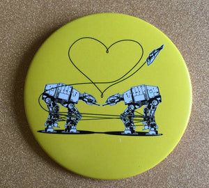 Magnet - 3.5 Inch: Love AT-AT First Sight - Yellow